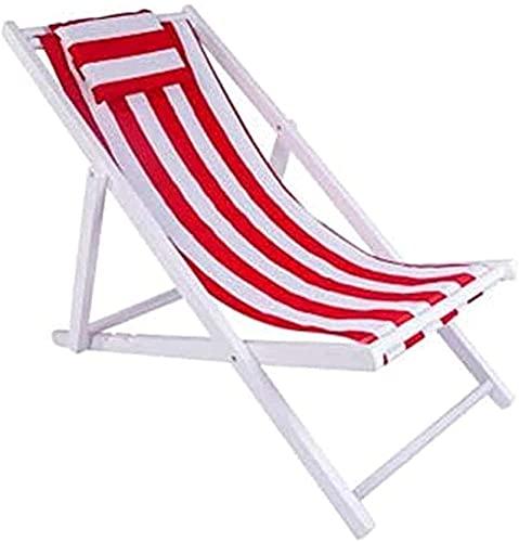 Silla plegable reclinable, plegable, reclinable y portátil, silla de gravedad cero, tumbona con almohada plegable al aire libre, reclinable de madera dura, soporte de 160 K