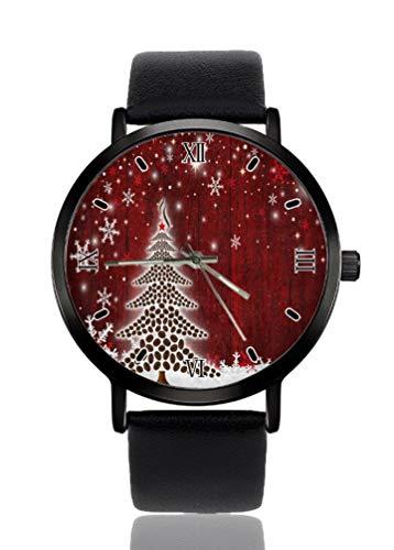 Reloj de pulsera para mujer, diseño de copo de nieve, de madera, ultrafino, extremadamente simple, analógico, ultrafino, movimiento de cuarzo japonés