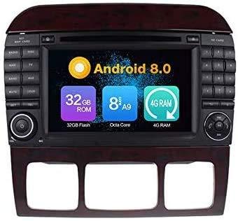 ZBHWYD Adecuado para Mercedes-Benz S-W220 1998-2005 Coche Estéreo GPS Navegación Multimedia Player Capacitivo Multi-Touch Pantalla satelital Control de teléfono móvil Bluetooth