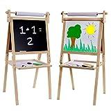 Best Easel For Kids - Kraftic Kid's Drawing Easel- Chalkboard, Magnetic Dry Erase Review