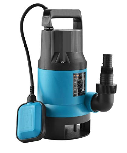 KATSU 400W Portable Submersible Pump for Clean and Dirty Water for Garden Pond, Pools, and Ditches + Float Switch
