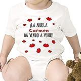 Regalo personalizado para un nieto o nieta: body para bebé '¡La abuela ha venido a verme!' personalizado con nombre