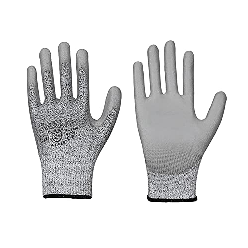 Solidstar Feinstrick-Handschuh PU-Beschichtung grau Schnittschutz Stufe B (1, 8)