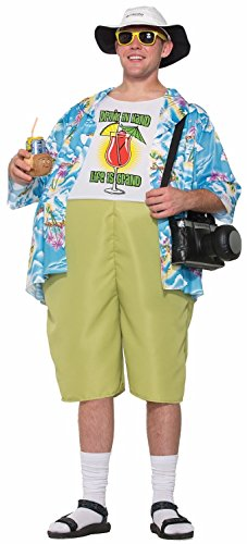 Forum Novelties mens Tropical Tourist Adult Sized Costume, Multi/Color, One Size US