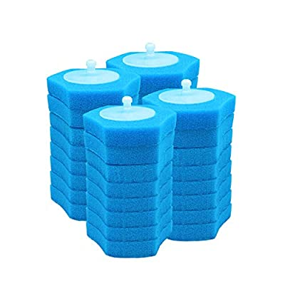 BOOMJOY Toilet Wand Refills,Toilet Bowl Cleaner Refills,Disposable Toilet Brush Heads-32 Count-Pack of 4,Marine flavour