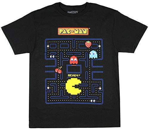 Pac-Man Boy's Game Action Graphic Print T-Shirt, M, L, XL