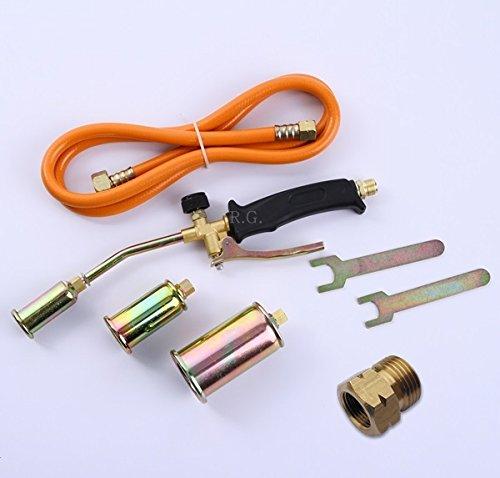 Unbekannt Gasbrenner Abflammgerät Brenner Löten Gaslötgerät Dachbrenner 3tlg. Adapter