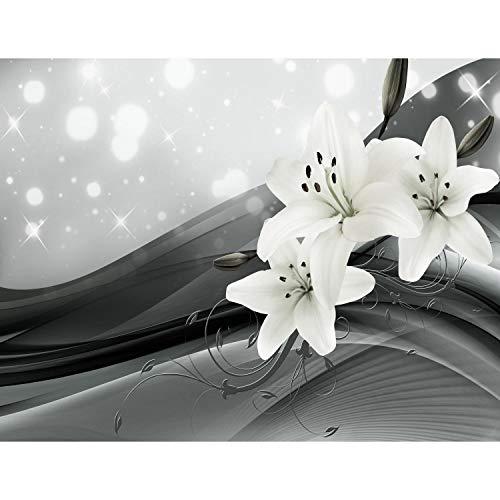 Fotobehang bloemen lelies - vliesbehang woonkamer slaapkamer kantoor hal decoratie wandschilderijen XXL moderne wanddecoratie - 100% MADE IN GERMANY - 9134cP bloemen. 352 x 250 cm - 8 Bahnen C