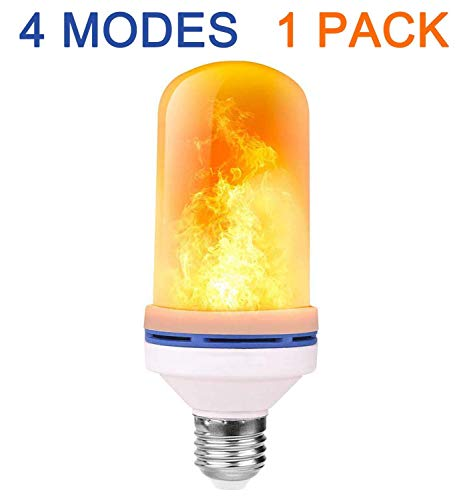 Tooklanet flickering light bulb E27 LED fire lamp 4W 1500K Leuchtmittel decorative flaming light for bar festival décor at Christmas Halloween holiday party (1 Stück)