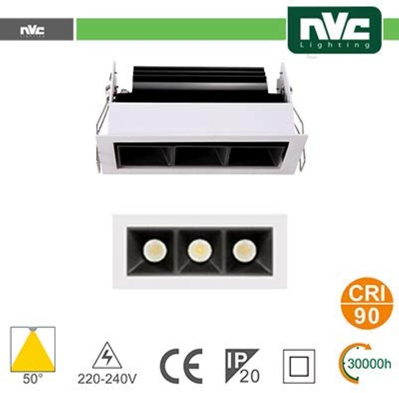 NMTLED52 Incasso Multi lampada - 3X3W 530LM 3000K 50°  90CRI