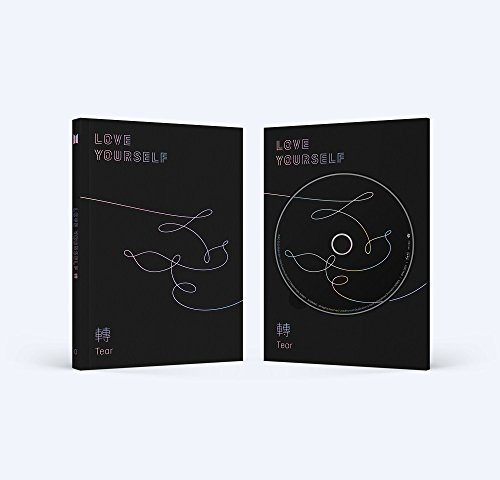 BTS - LOVE YOURSELF 轉 Tear [O ver.] CD+Photobook+Mini Book+Photocard+Standing Photo+Folded Poster+4 Extra Photocards