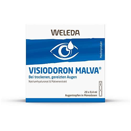 WELEDA Visiodoron Malva Augentropfen in Monodosen, 20 St. Einzeldosispipetten