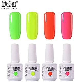 Arte Clavo 15ml Varnish Soak Off UV Led Nail Gel Polish Nail Art Salon Set 38 of 4 Colors