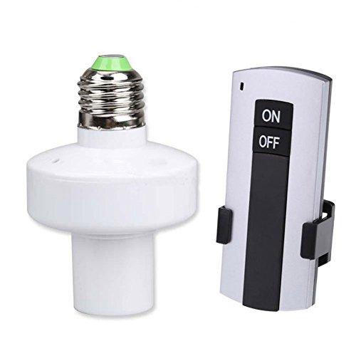 hrph inalámbrica 220V Mando a distancia portalámparas E27tornillo y Farolas Bombillas de LED de luz de control remoto Interruptor