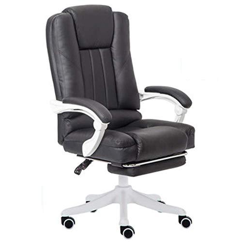 Gaming Chair sofa Ajustable Modernos Sala de Estar reclinables Teatro del Asiento con el reposapies de Color Rosa Silla ergonomica RVTYR (Color : Black)