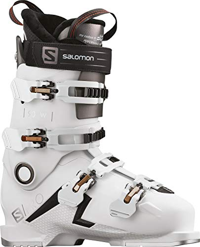 Salomon S/Pro 90 buty narciarskie - damskie białe/czarne/złote świecące metaliczne 24/24,5