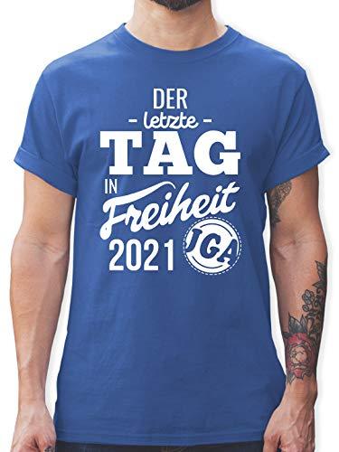 JGA Junggesellenabschied Männer - Der letzte Tag in Freiheit 2021 - M - Royalblau - JGA der letzte Tag in freíheit - L190 - Tshirt Herren und Männer T-Shirts