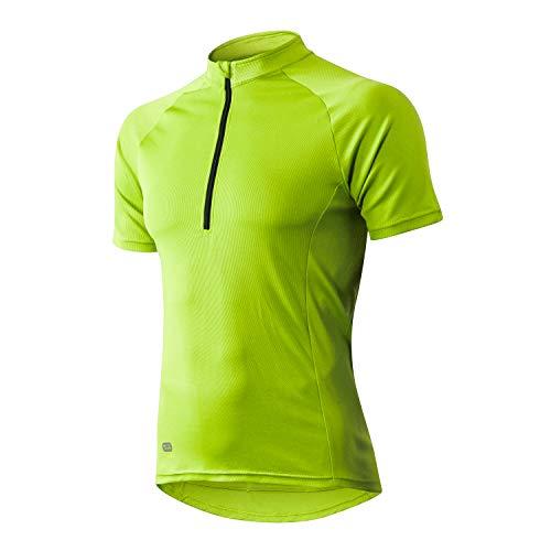INBIKE Maillot Ciclismo Hombre Verano Transpirable Elástico Ropa Bicicleta MTB Camiseta Ciclismo Manga Corta 100% Poliéster(Verde,L)