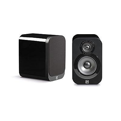 Q Acoustics 3010 Compact Bookshelf Speakers (Pair) (Gloss Black) from Q Acoustics