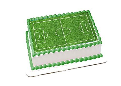 Terrain de Football A4 Gâteau Figurine fabrication de comestible sucre glaçage