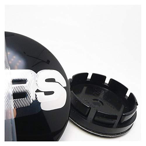 Tapas Para Llantas 4 unids Rueda Central Cap HUB 56mm Compatible con BBS 16 pulgadas Golf Mk3 Neumáticos Capas de estilo Capas Cubierta Cubierta Logotipo Emblema Insignia 53mm Tapas de cubo de rueda