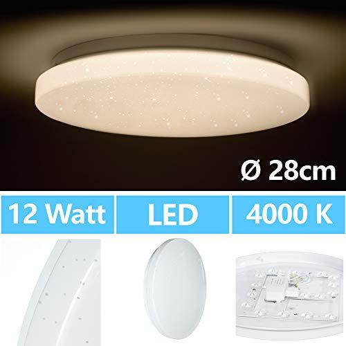 LED Deckenlampe Deckenleuchte Wohnzimmer Schlafzimmer Sternenhimmel 12 Watt 230V Kinderzimmer Neutralweiß