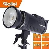 Rollei HS Freeze 6s Akku Studioblitz 600 Watt I Blitzgerät mit HSS, TTL, Freeze Modus I Staub und Sprühwasserschutz geeignet für Outdoor Shootings