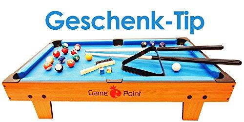 Exklusiver Mini Billardtisch GamePoint in Farbe Königsblau, Größe ca. 92x52x20 cm - Angebot !