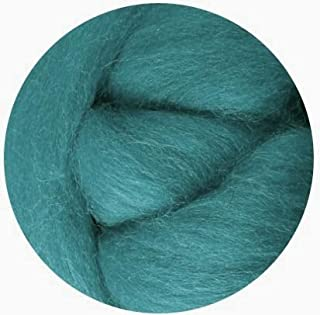 Weir Crafts NZ Corriedale Wool Roving for Felting - 1 Ounce Teal