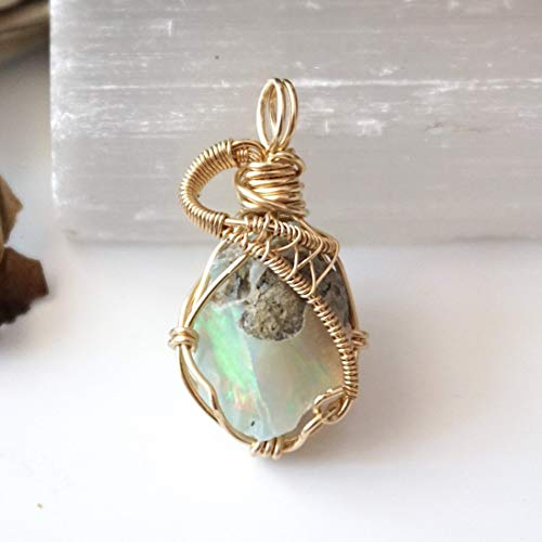 October Birthstone Necklace Marquise Necklace Opal Pendant 14Kt Gold Opal Necklace
