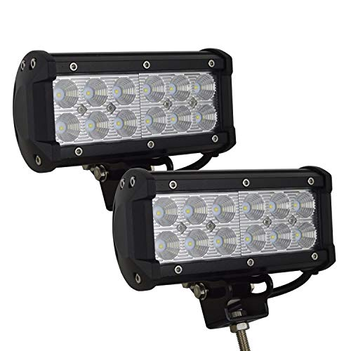 SKYWORLD 2 Piezas 7 pulgadas 36 W Luz de Trabajo Led Off Road Flood Light Bar Conduciendo Lámpara de Niebla para ATV SUV Camión Mina Golf Carro de golf