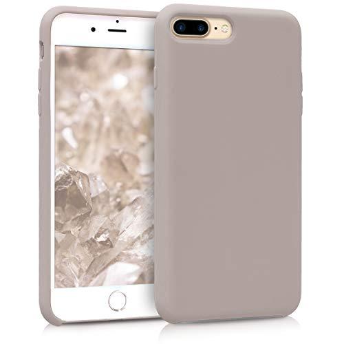 kwmobile Hülle kompatibel mit Apple iPhone 7 Plus / 8 Plus - Handyhülle gummiert - Handy Hülle in Helltaupe