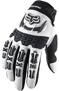 Fox Racing Dirtpaw Men's Off-Road/Dirt Bike Motorcycle Gloves - Color: White, Size: Medium