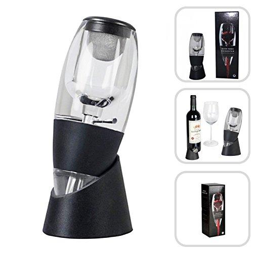 Rancross Wein-Dekantier-Set mit Weinbelüfter Magic Decanter Red Wine Aerator & Stand, Nylon