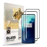 AYSOW Protector de pantalla para One Plus 7 Pro [2 unidades] HD de cobertura de vidrio templado antihuellas, sin burbujas, fácil de instalar, protector de vidrio de dureza 9H para One Plus 7 Pro