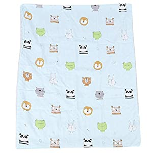Baby Swaddle Blanket, Pram & Travel Extra Soft Baby Blanket Breathable Newborn Muslin Blanket for All Seasons, 84×108 cm