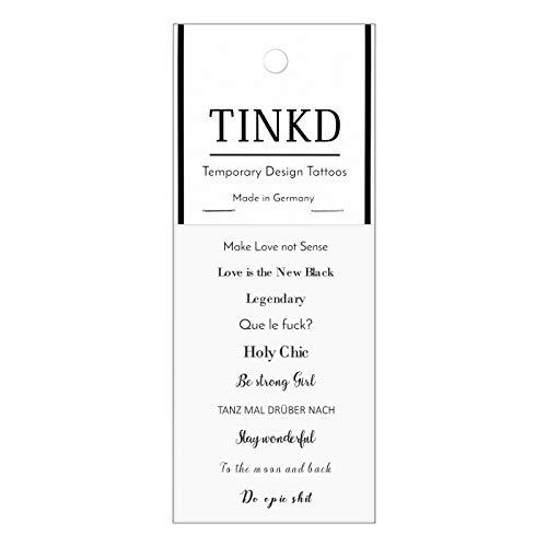 TINKD Flash-Tattoo Mini Statements - Tattoo-Sprüche und Zitate - Made in Germany