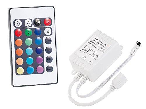 Lunartec Zubehör zu Ledlichtband: Fernbedienung für LED-Streifen der Serie LC, mit Empfänger (LED-Leisten biegsam)