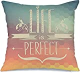 Fundas de almohada decorativas de poliéster Travel 10 Tour Mejor tipografía de verano Dream Happy Sky Postertypographyvector Resort Ocean Abstract Square Cojín Funda de almohada , (16 'x16' /...