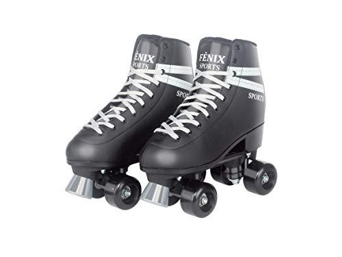 Patins Quatro Rodas Roller Skate Fenix Preto
