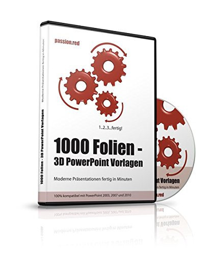 1000 Folien - 3D PowerPoint Vorlagen - Farbe: passion.red (2017): Moderne Präsentationen für Business, Kommunikation, Marketing, Vertrieb, Verkauf, ... - für Microsoft PowerPoint und Apple Keynote