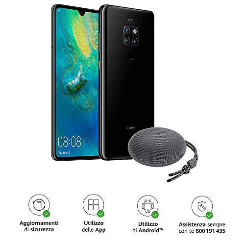 "Huawei Mate 20 (Black) Smartphone + Speaker Bluetooth, 128 GB+4GB RAM, Display 6.53"" Full HD+, Processore Octa Core dinamico con Intelligenza Artificiale [Versione Italiana]"