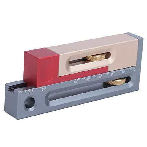 Ajustador de ranura de sierra, ajustador de sierra de inglete de aleación de aluminio, alta precisión a prueba de herrumbre para sierra de inglete