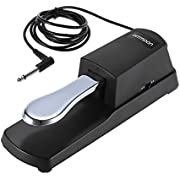 ammoon Piano Keyboard Sustain Damper Pedal Upgrading for Casio Yamaha Roland Electric Piano Electronic Organ