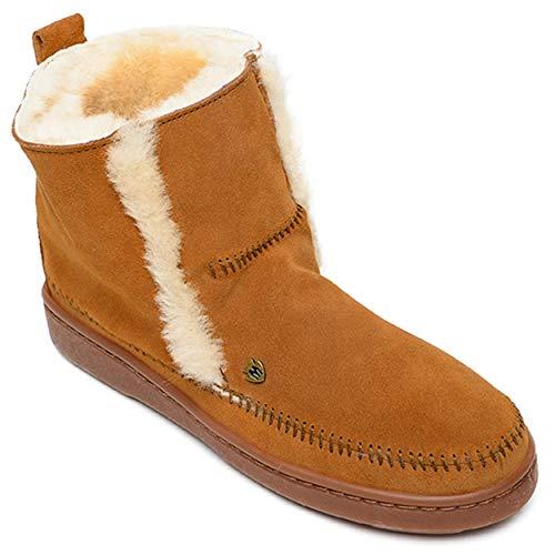 Minnetonka Women's Jade Suede Sheepskin Boots 6 M Brown