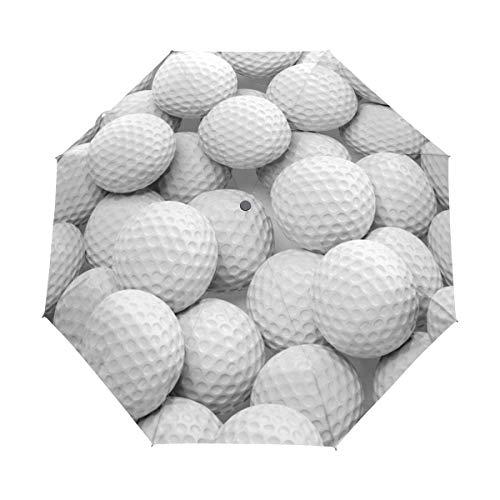 BIGJOKE Paraguas Plegable de Cierre automático con diseño de Pelota de Golf...