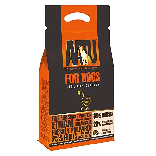 AATU 80/20 Alimentos Secos para Perros, Pollo, Alto Contenido de proteínas, Receta Libre de Granos, sin Ingredientes Artificiales, 3 Libras