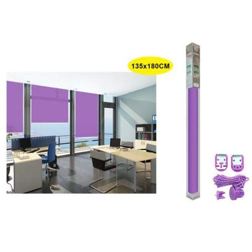 REAL STAR Estor Enrollable translúcido Liso (Morado, 135x180cm)