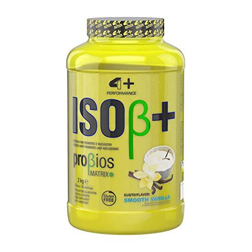 4+ NUTRITION - Iso β+, Integratore Sportivo, Proteine del Siero del Latte Isolate, Aumento di Energia, Resistenza e Recupero Veloce, in Polvere, Gusto Smooth Vanilla, 2 kg