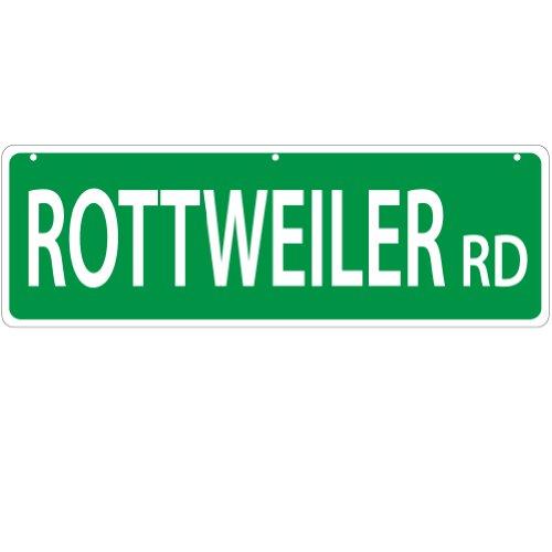 Imagine CE Rottweiler Plaque de Rue